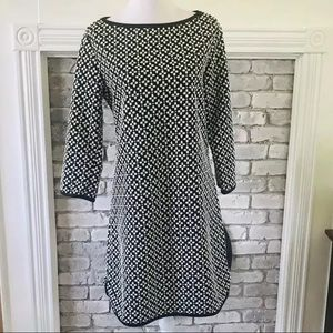 Max Studio Floral Shift Dress 3/4 Sleeve Size XL